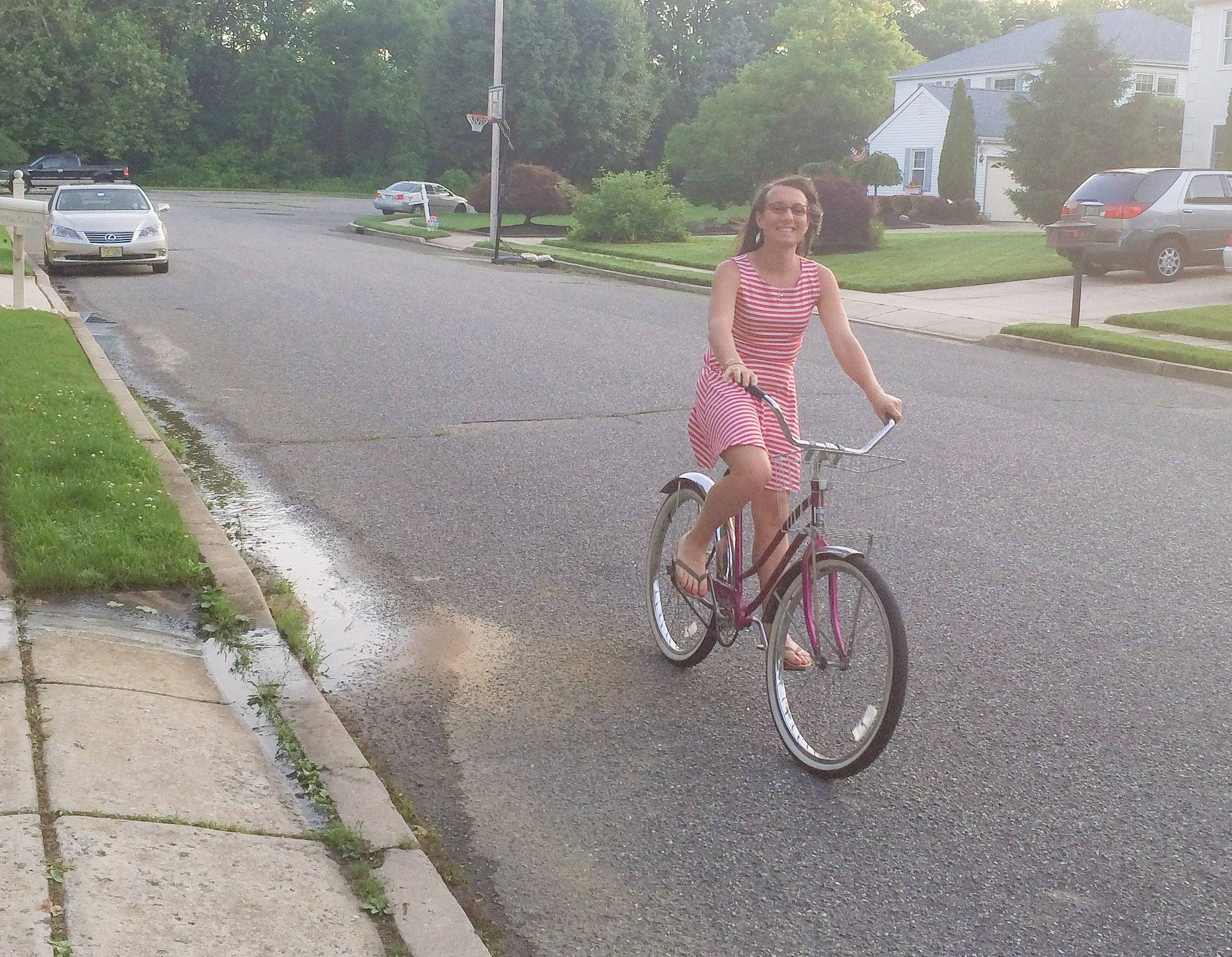 Someone gave my mom a bike and took it for a spin around the block while I was home with them.