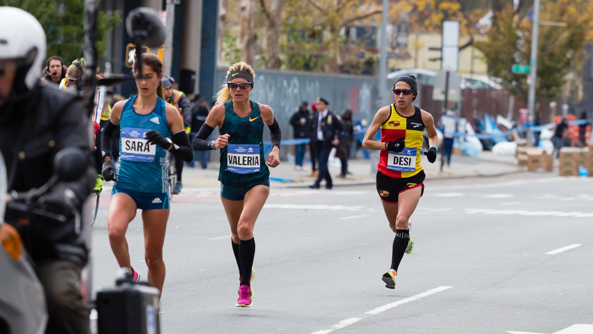 Desi Linden New York City Marathon 2014
