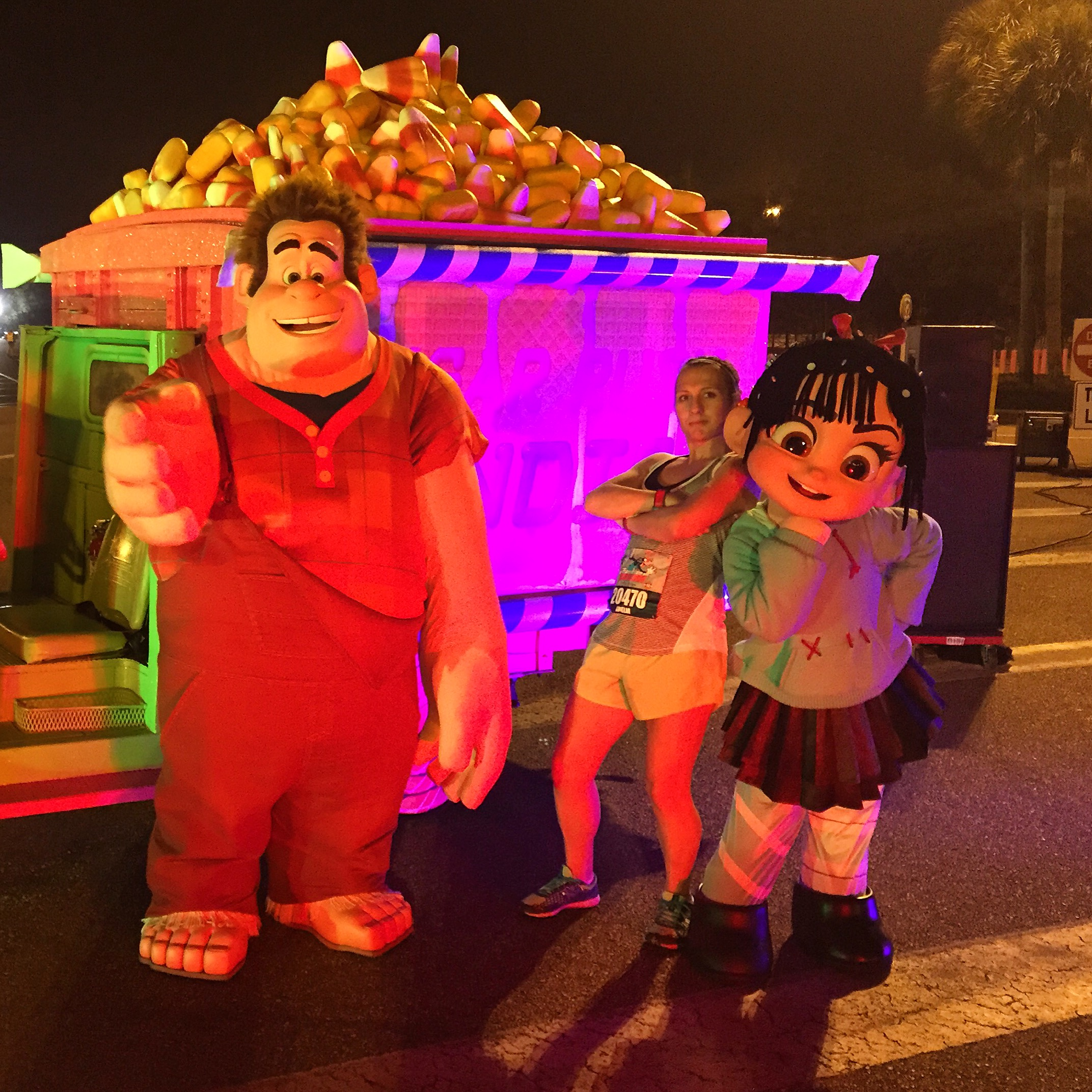 2015 Walt Disney World Marathon Wreck-It Ralph and Vanellope