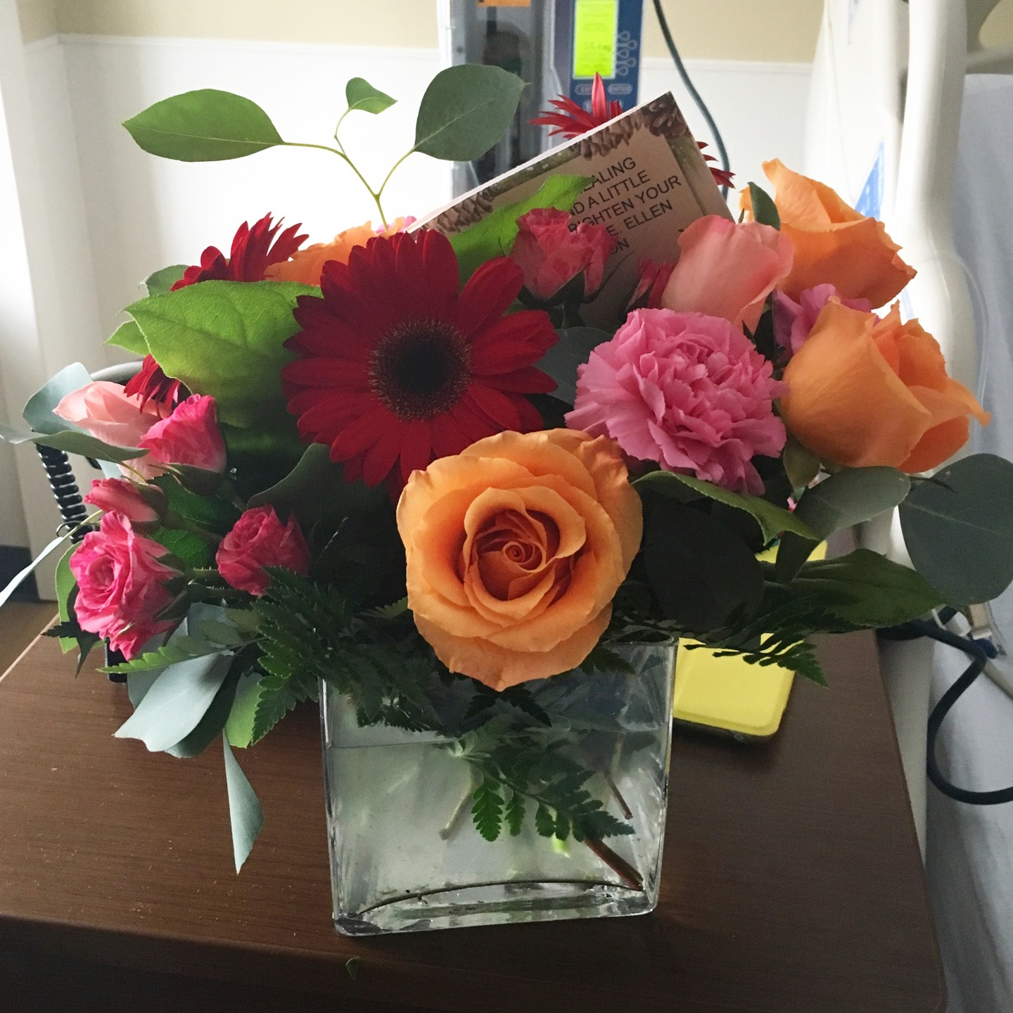 Thank you for the flowers, Ellen!