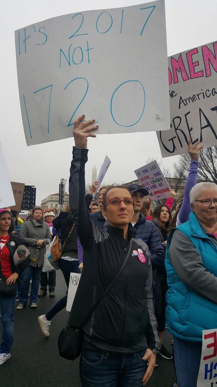'2017 not 1720' protest sign