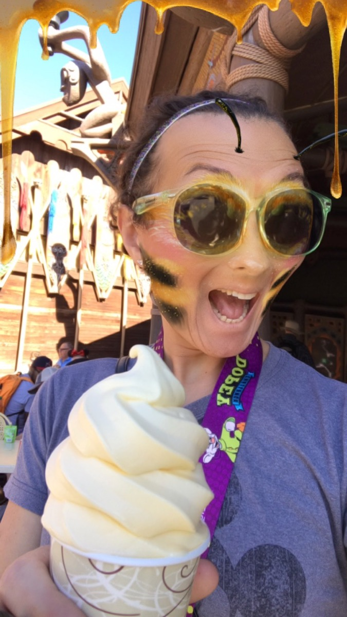 And when you've run 48.6 miles, you get as much ice cream as you want! Gimme that Dole Whip!