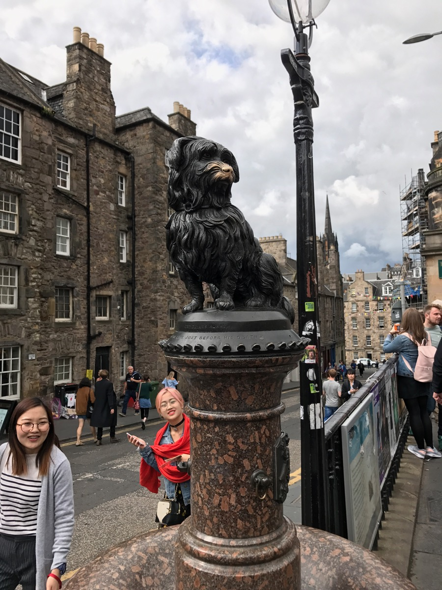 This is Greyfriars Bobby. You should read about him. What a good boy!