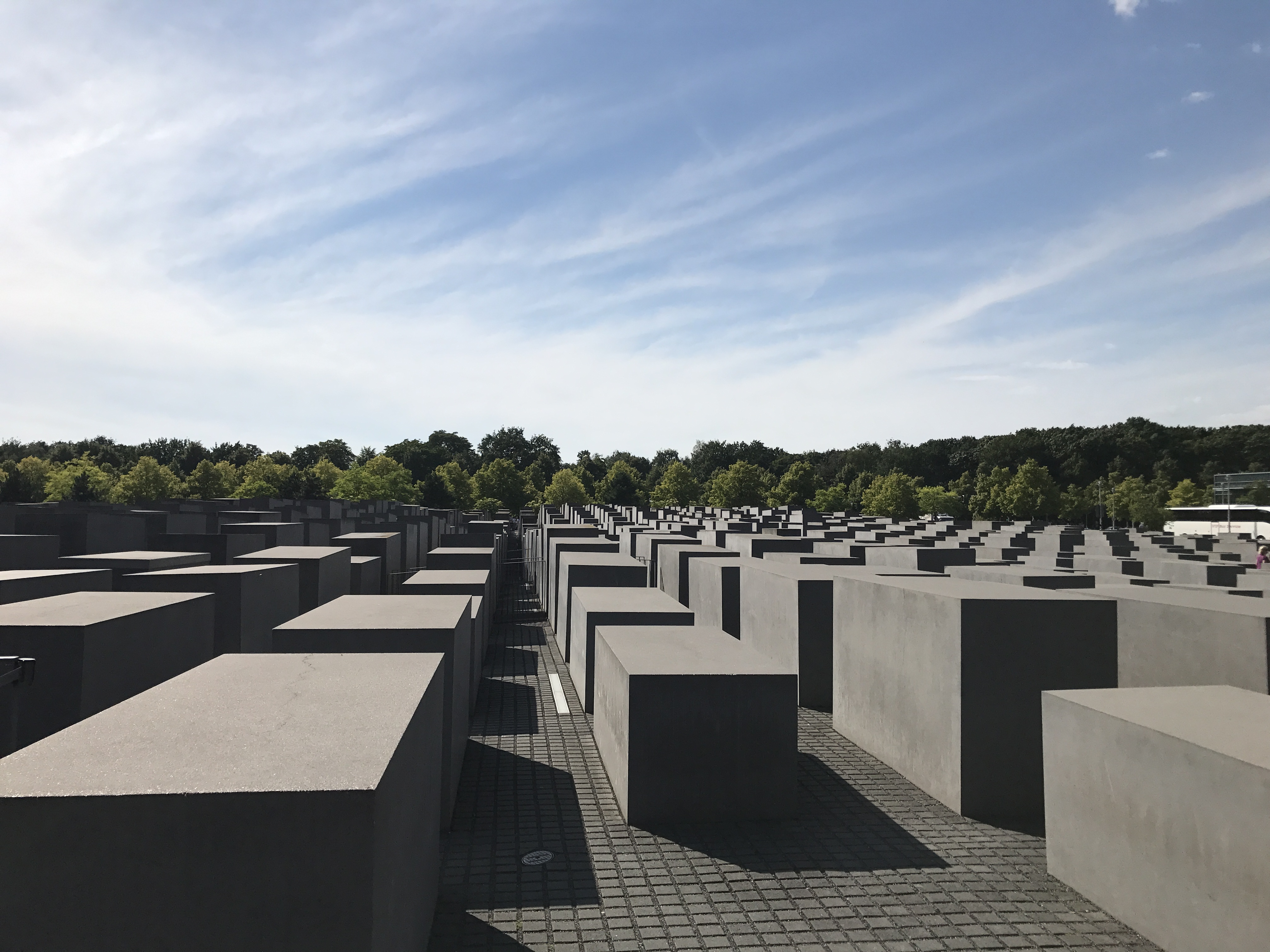 The Memorial to the Murdered Jews of Europe. The meaning of the design is meant to be open to interpretation and the number of blocks is not representative of anything, it's just what fit there. For reference, it's okay to sit on them, as approved by the Jewish architect of this memorial. It is not, however, okay to stand on them.