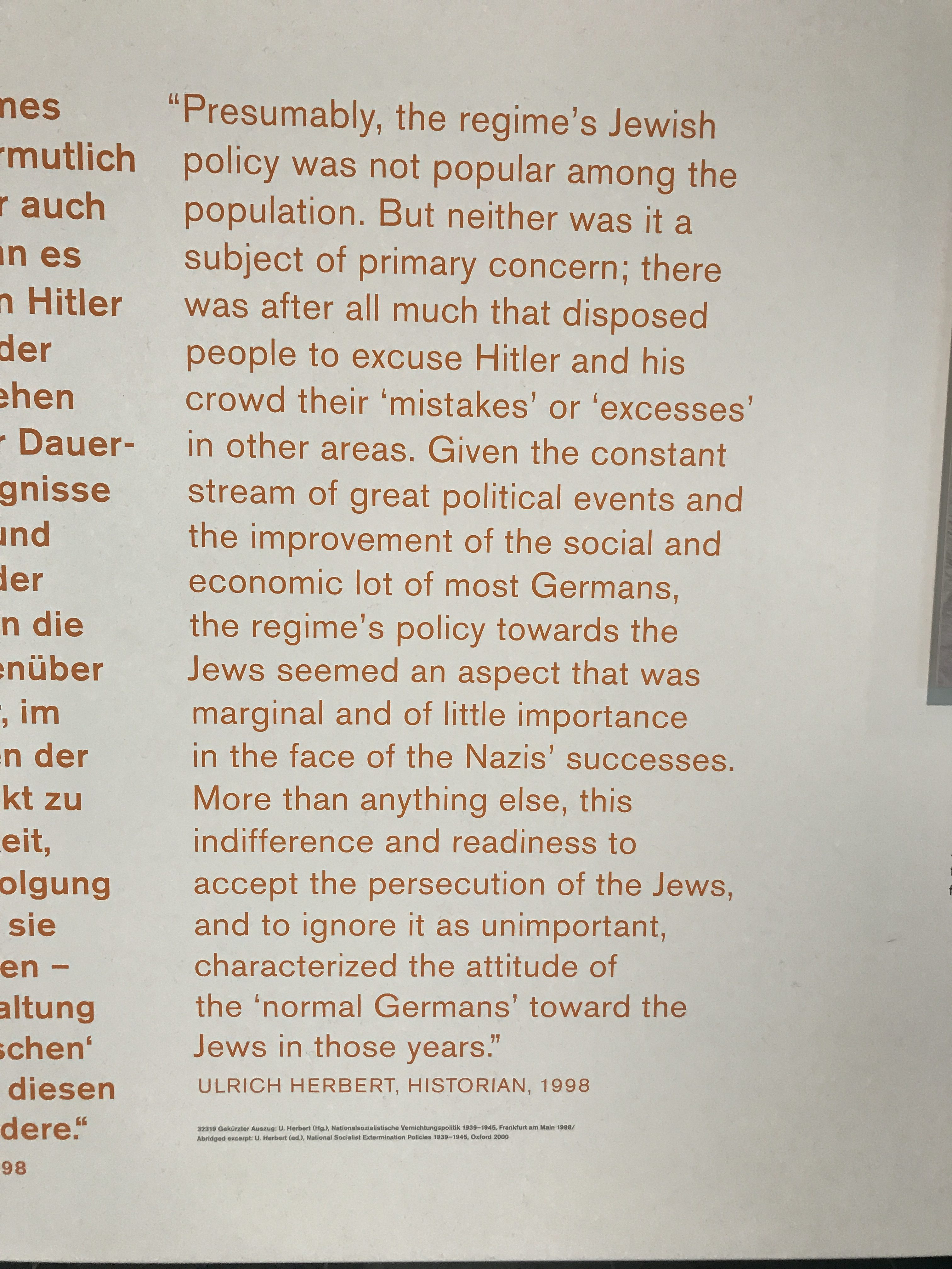 An important quote from the Topography of Terror that all Americans should think about.