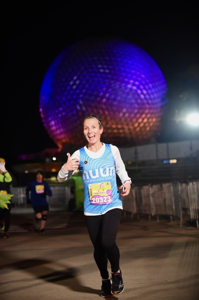 Amelia running the 2018 Disney World 5k
